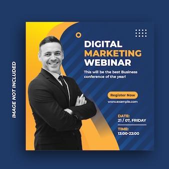 Plantilla de banner web de publicación de redes sociales de agencia de marketing de negocios digitales