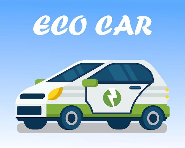 Plantilla de banner web de transporte amigable con el ecosistema
