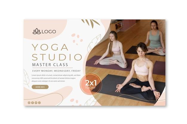 Plantilla de banner de yoga con foto