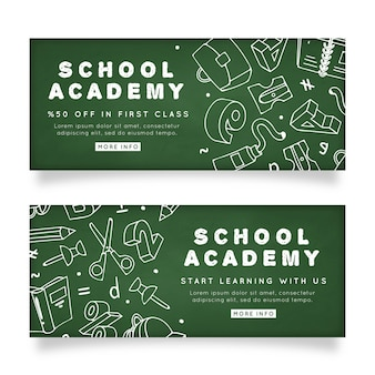 Plantilla de banners de academia escolar