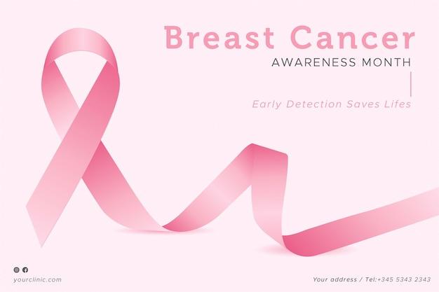 Plantilla de banners de concientización sobre el cáncer de mama