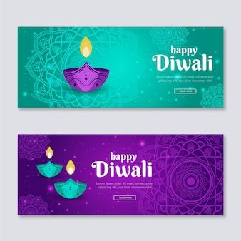 Plantilla de banners de diwali
