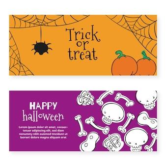 Plantilla de banners de festival de halloween