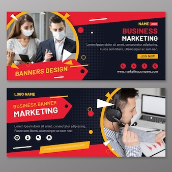 Plantilla de banners de marketing