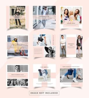 Plantilla de banners de publicación de redes sociales de moda