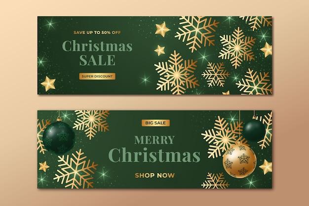 Plantilla de banners de rebajas de navidad