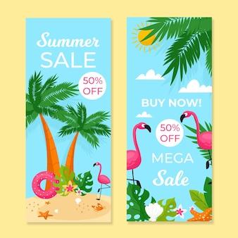 Plantilla de banners de venta de verano