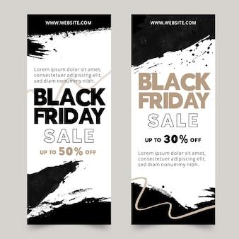 Plantilla de banners de viernes negro en acuarela