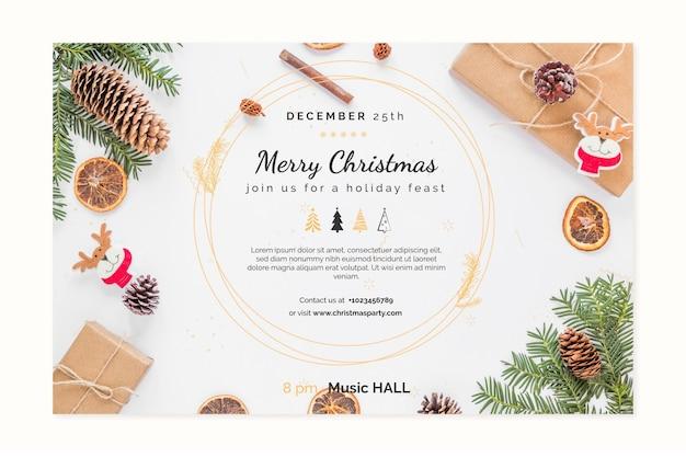 Plantilla de bannes de navidad