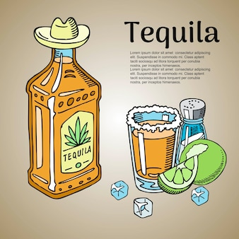 Plantilla de barra de tequila