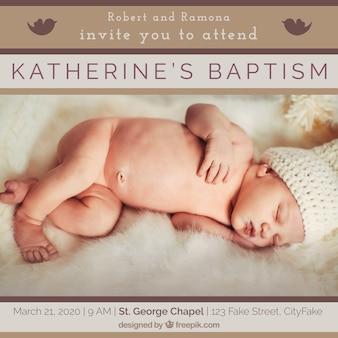 Plantilla para un bautizo