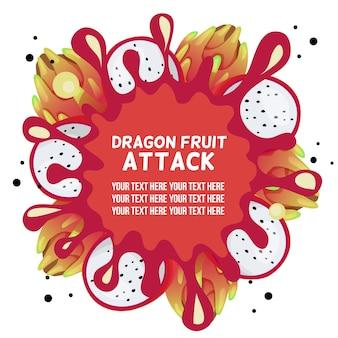 Plantilla de bienvenida de fruta de dragón