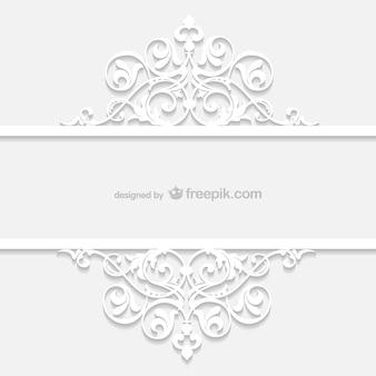 Plantilla blanca ornamental retro vector gratuito