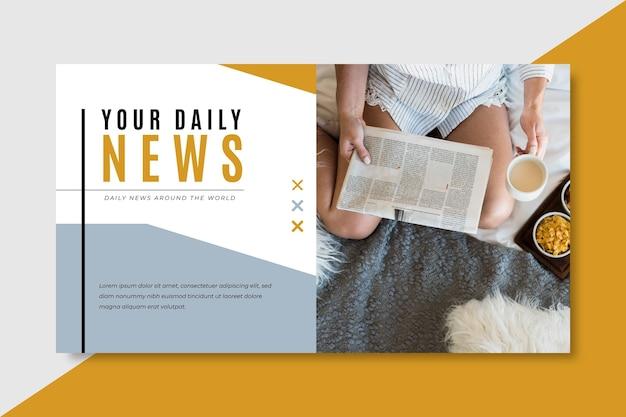 Plantilla de blog de banner de noticias