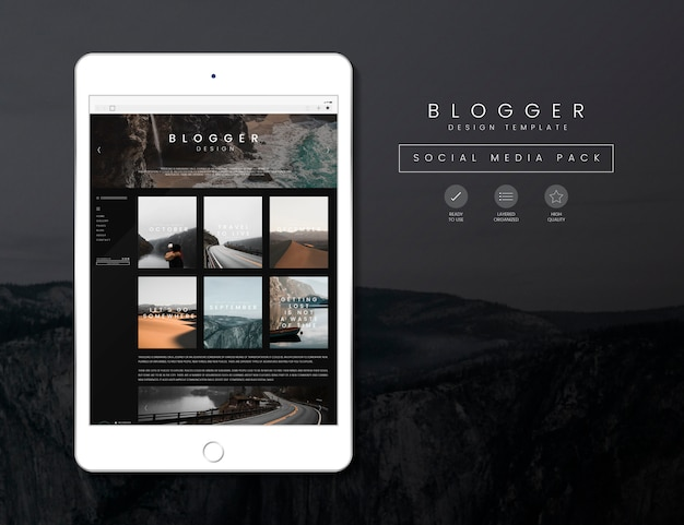 Plantilla de blog de viajes