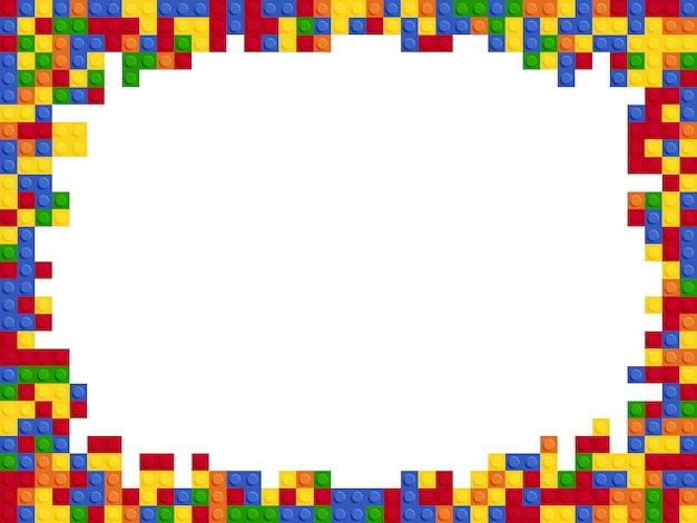 Plantilla de bloque de constructor de color plástico marco