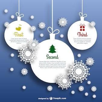 Plantilla con bolas de navidad