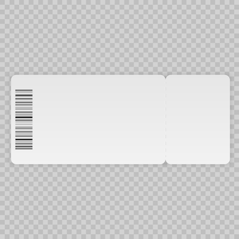 Plantilla de boleto aislada sobre un fondo transparente