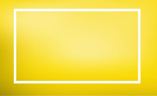 Plantilla de borde con fondo amarillo