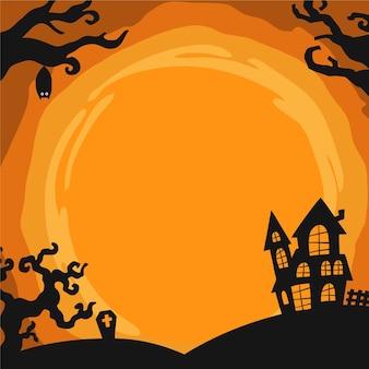 Plantilla de borde de halloween dibujada a mano