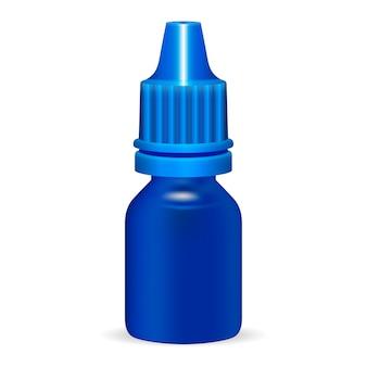 Plantilla de botella de plástico médico cosmético fluido.