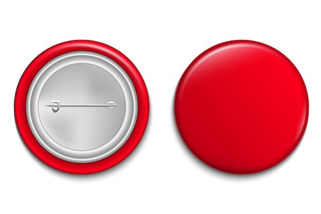Plantilla de botón de pin 3d