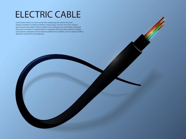 Plantilla de cable eléctrico flexible