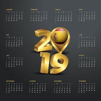 Plantilla calendario 2019