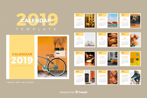 Plantilla de calendario 2019