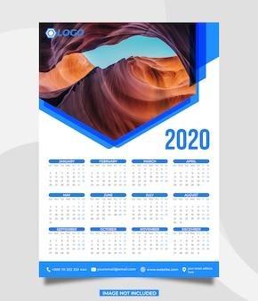 Plantilla calendario 2020