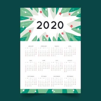 Plantilla de calendario abstracto 2020