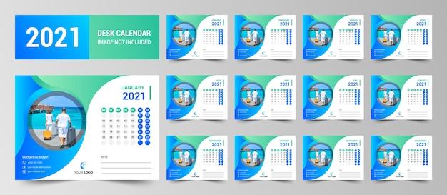 Plantilla de calendario de escritorio para empresas