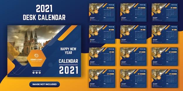 Plantilla de calendario de escritorio