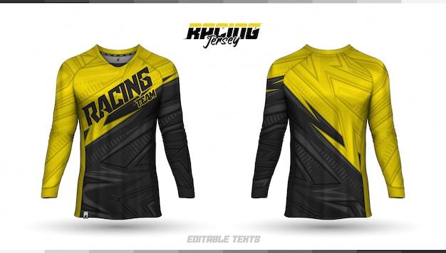 Plantilla de camiseta, diseño de camiseta de carreras, camiseta de fútbol