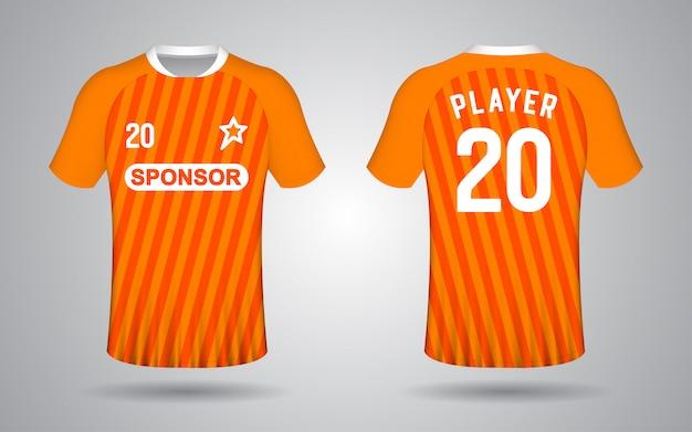 Plantilla de camiseta de fútbol naranja