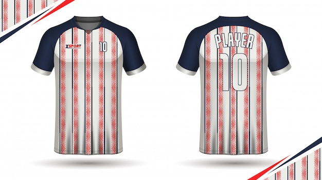 Plantilla de camiseta de fútbol plantilla de camiseta deportiva