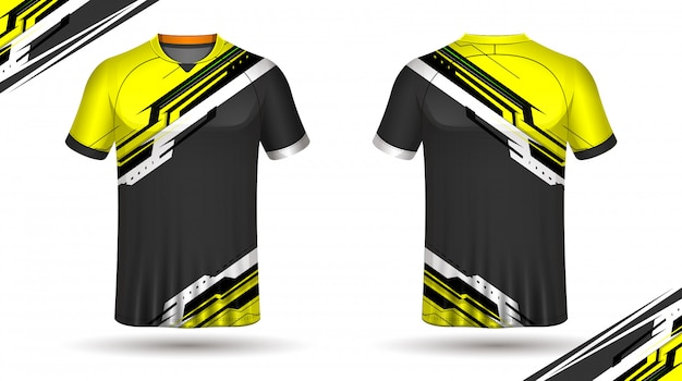 Plantilla de camiseta de fútbol