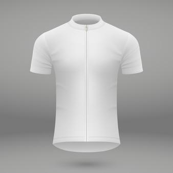 Plantilla de camiseta para jersey de ciclismo.