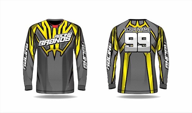 Plantilla de camiseta de motocross, diseño de camiseta de carreras