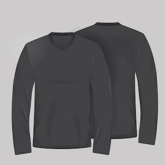 Plantilla de camiseta negra