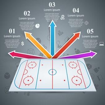 Plantilla de campo de hockey