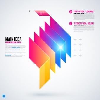Plantilla capas de infografía
