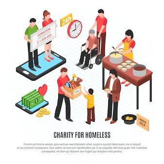 Plantilla de caridad para personas sin hogar