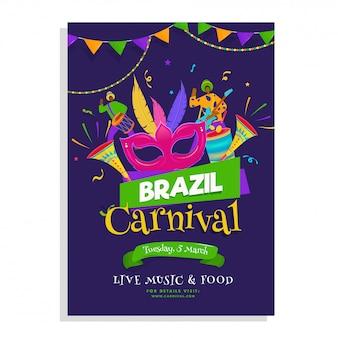 Plantilla de carnaval brasileño.
