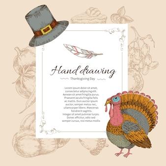 Plantilla de carta del día de acción de gracias
