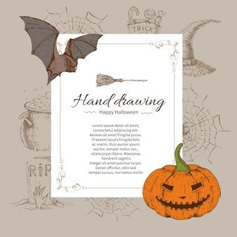 Plantilla de carta de halloween