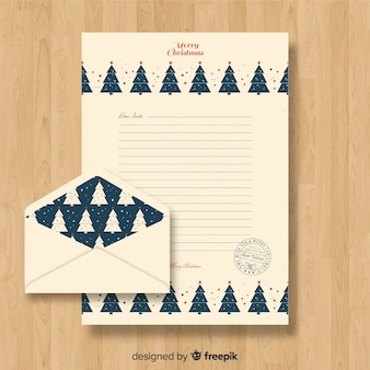 Plantilla de carta navideña