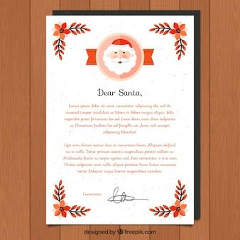 Plantilla de carta para querido santa en navidad