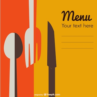 Plantilla de carta de restaurante abstracta