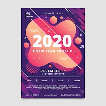 Plantilla de cartel abstracto fiesta de año nuevo